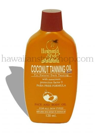 ครีมกันแดด HAWAIIAN STYLE COCONUT TANNING OIL SPF 2  120 ml.