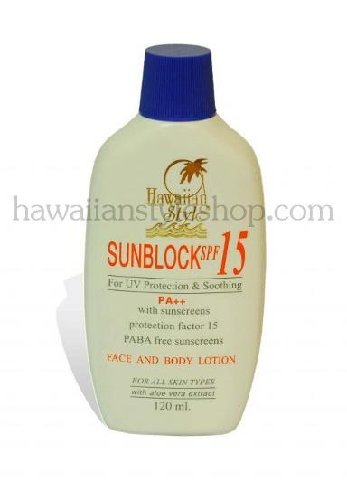 HAWAIIAN STYLE SUNBLOCK LOTION SPF 15   120 ml.